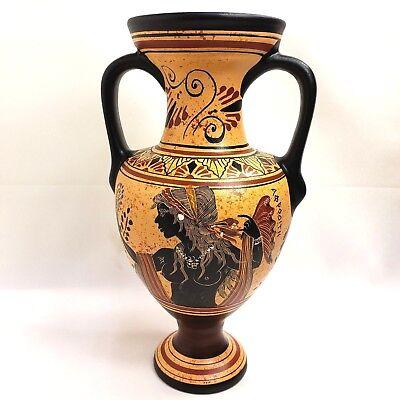 Antike Griechische Göttin Aphrodite Venus & Gott Dionysius Kunst Töpferei Vase ()