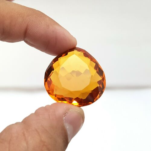 52.0 Ct Certified Natural Pear Cut Translucent Citrine Loose Gemstones K-426