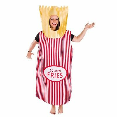 Halloween Drinks Adults (Adult Funny French Fries Food Drink Costume Outfit Suit Halloween One)