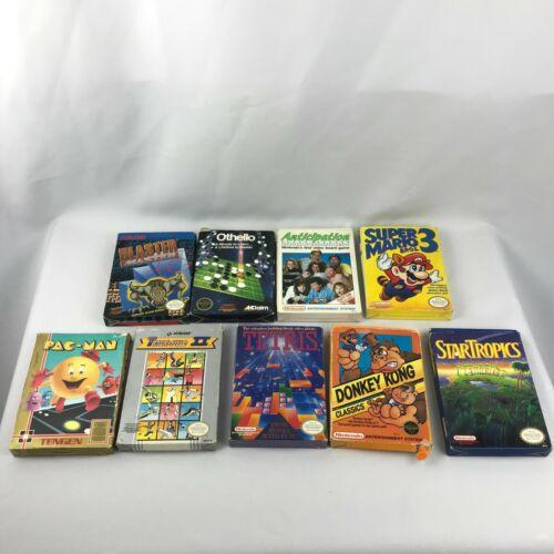 Lot of 9 NES Games Complete in Box Mario 3 Master Blaster Star Tropics Nintendo
