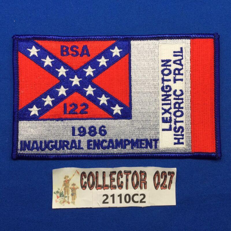 Boy Scout Lexington Historic Trail 1986 Inaugural Encampment Patch
