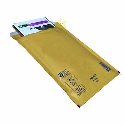 100 Small Gold Padded, Bubble Lined Envelopes MAIL Cheap Brown 120 x 215mm B/00