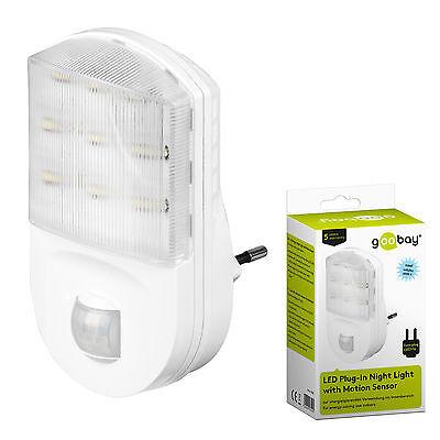 LED Nachtlicht mit Bewegungsmelder für Steckdose 9 LEDs Nachtlicht Nachtlampe