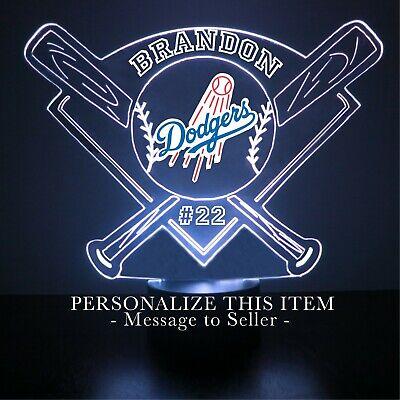 mlb baseball personalized gift light up 3d