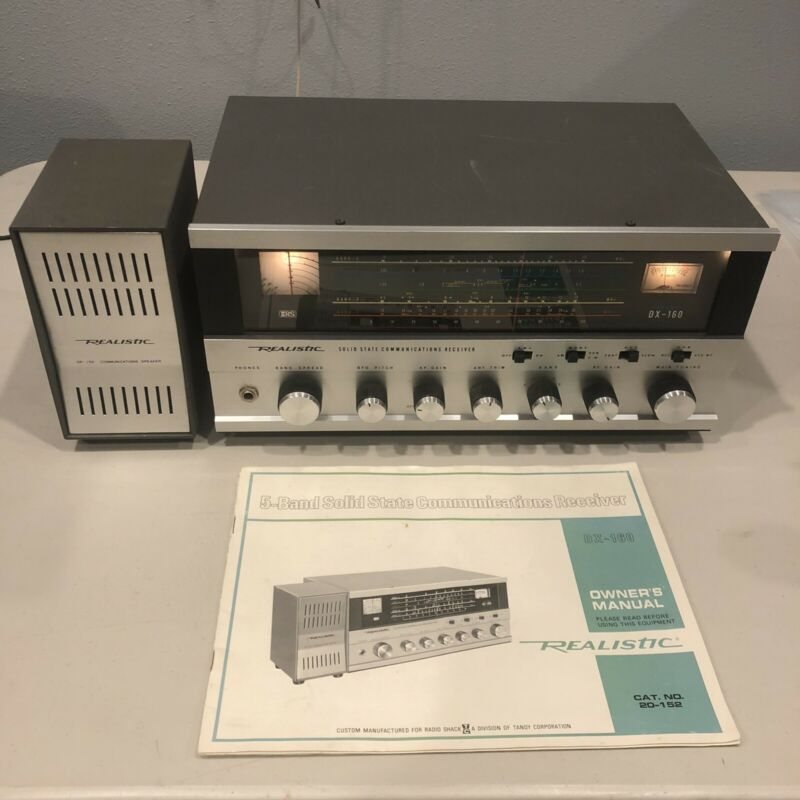 DX160 Realistic Shortwave Radio Solid State, With Speaker and Manual *NICE*