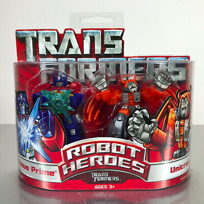 Transformers Robot Heroes OPTIMUS PRIME & UNICRON 2-Pack G1 NIB
