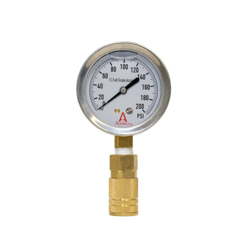 0-200 PSI Liquid Filled Pitot Tube Gauge (Fire Pump Flow Testing Hose Monster)
