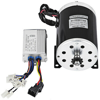 48v Dc Electric Brushed Speed Motor 1000w W Controller T8fchain Kit Go Kart
