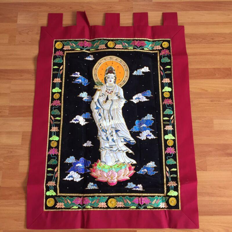 kalaga tapestry wall hanging guan yin kuan quan im mercy god buddha success