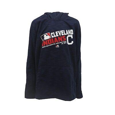 Cleveland Indians MLB Majestic Kids Youth Size Athletic Hooded Sweatshirt New (Majestic Athletic Hood)