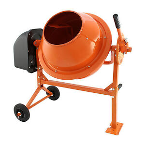 Electric cement mixer 70 litre 250w portable concrete for Cement mixer motor for sale