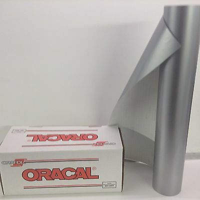 """Oracal 651, 1 Roll 24"""" x 10 ft.Silver #090 Vinyl for Craft,Sign, by precision62"""