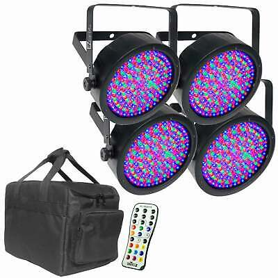 Chauvet DJ EZPar 56 LED Wireless Battery Wash Light 4 Pack + Bag