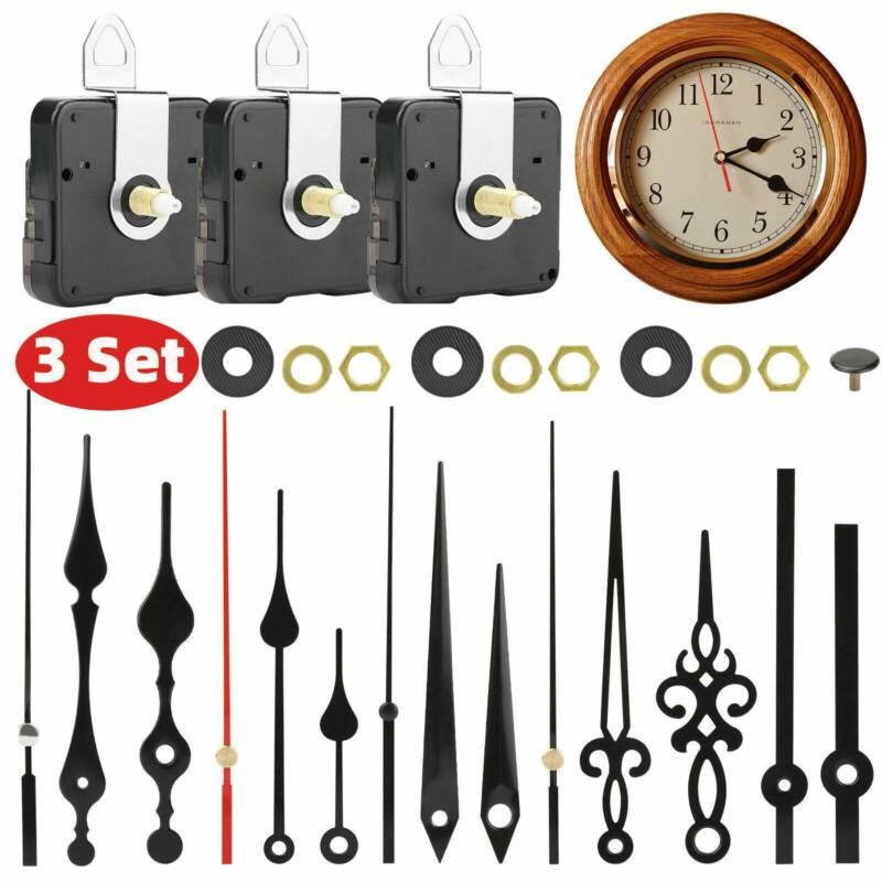3PCS Long Shaft Clock Movement Mechanism DIY Repair Hands Replacement Tool Kit