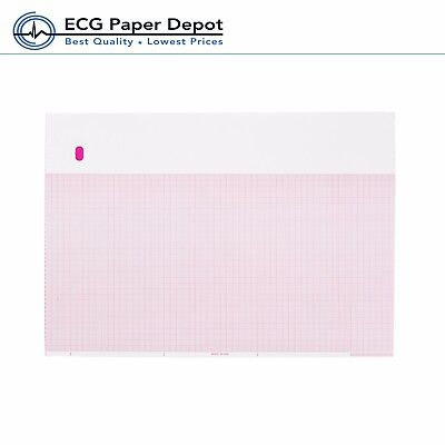 Ecg Ekg Printing Chart Ge - Marquette 10 Pack-9402-024 Red Z-fold 8.44 X 11
