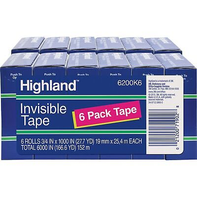 Highland Invisible Tape 1 Core 34x1000 12 Rollsbd Clear 6200341000bd