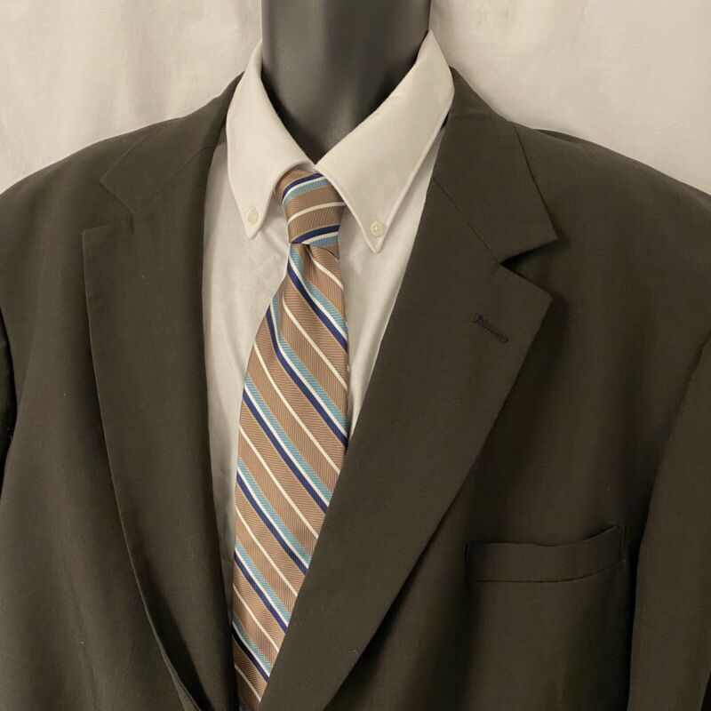 56R Mens HARDWICK Sport Coat Blazer Suit Jacket * Gray Wool