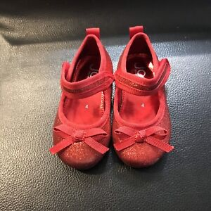 Brand new Size 4 glittery red shoes