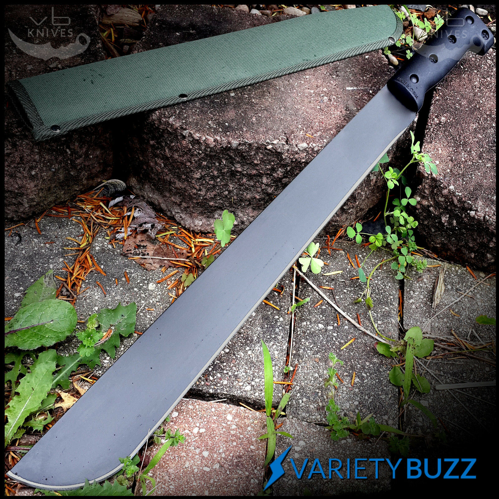 "23"" SURVIVAL JUNGLE HUNTING MACHETE KNIFE w/ SHEATH Military Fixed Blade Sword"