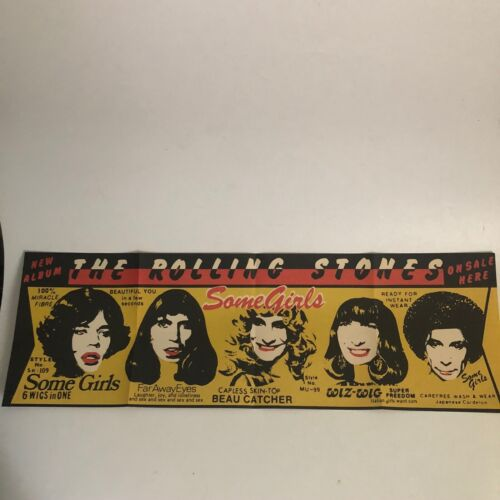 "Rolling Stones Some Girls Album 22"" Reproduction Music Poster Repo Banner"
