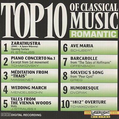 Top 10 of Classical Music: Romantic (Cd Apr-1990) Top 10 Classic Music