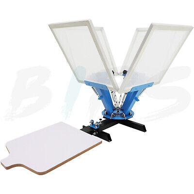 4 Color 1 Station Screen Printing Machine Imprinting Screen Kit Printer