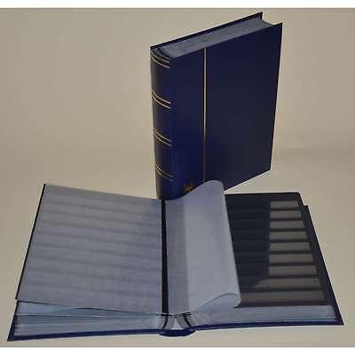Briefmarkenalbum, Einsteckbuch, Einsteckalbum, 60 schw. Seiten, blauer Einband