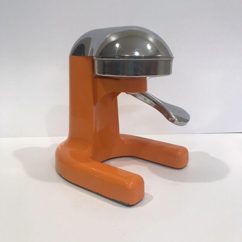 Vintage Metal Juicer Orange Chrome