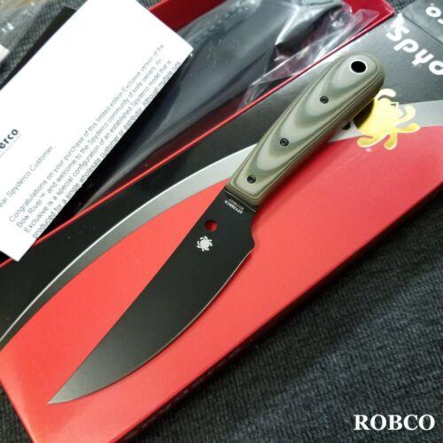Spyderco Bow River Black Blade OD Green/Black G-10 EXCLUSIVE FB46GPODBK