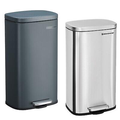 SONGMICS 30L Recycling Mülleimer Abfalleimer Abfallbehälter Küche Papierkorb