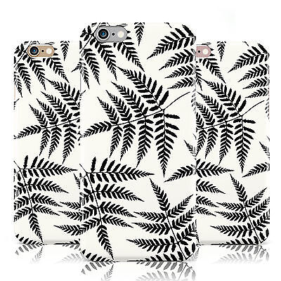 BLACK FERN LEAF DESIGN PRINT WHITE CASE COVER FOR APPLE IPHONE MOBILE PHONES
