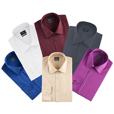 (New Arrow Men's Regular-Fit Tonal Stripe Textured Spread Collar Dress Shirt $40)