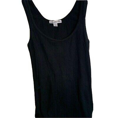 James Perse Black Vest Cami Top Size 0 (uk 8)