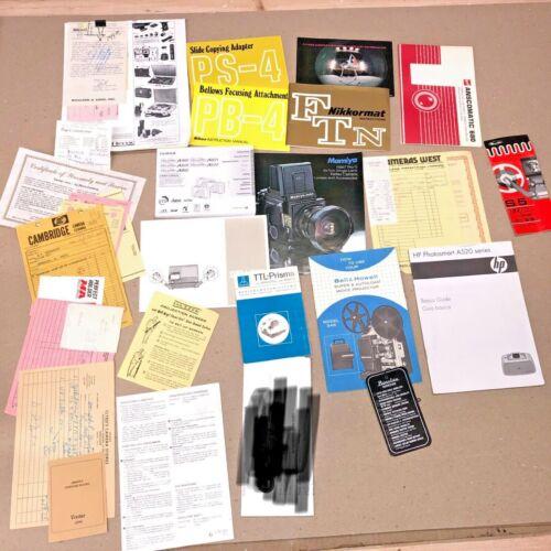 Vintage Nikon Booklets on Models Vintage Camera Collectible Paperwork Receipts