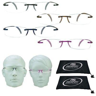 Reading Glasses Full Lens Pocket Readers Rimless Lightweight Women 1.00 - 4.00