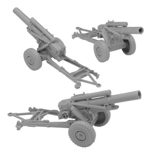 BMC Marx Recast Battleground HOWITZERS Gray Plastic Army Men Field Artillery