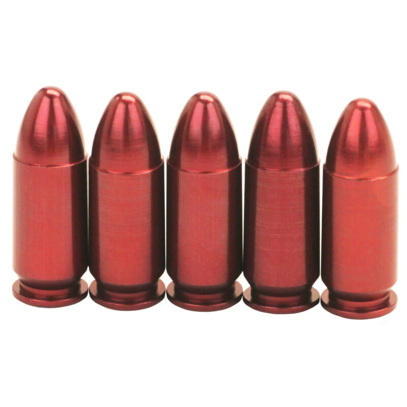 A-Zoom Snap Caps 9mm Luger Precision Metal Snap Cap-Pack of 5-15116