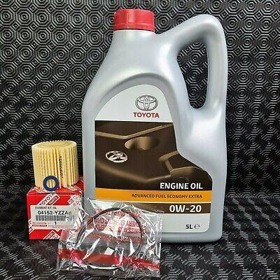 GENUINE TOYOTA AURIS HYBRID OIL SERVICE KIT ENGINE OIL SUMP WASHER & OIL FILTER