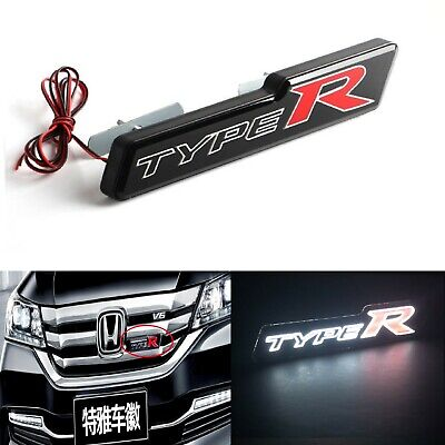 X1 TYPE-R LED Lights Illuminated Car Front Grille Badges Emblem Universal