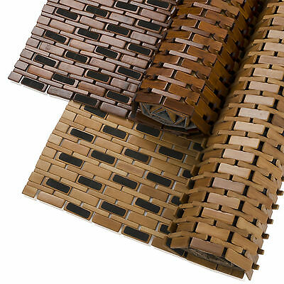 Rutschfeste Badematte aus Bambus, Badteppich, Vorleger aus Bambus | 2 Farben
