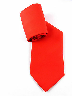 ELEGANTE DAMEN UNI KRAWATTE WOMEN´S TIE HELL ROT LIGHT RED