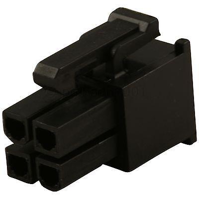 Black 4 Pin Female ATX/EPS Power Connector Socket & Pins - PSU Modding