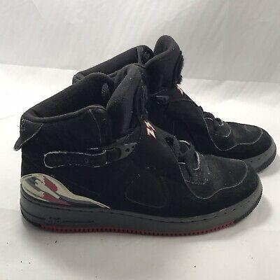Air Jordan AJP 8 Fusion Basketball Shoes Black 385067-001 Boy's Size 7Y