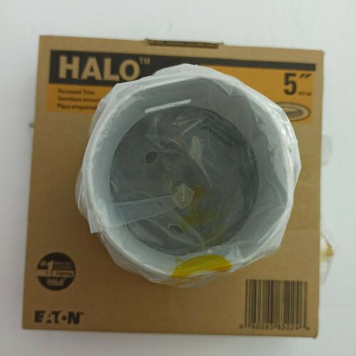 Halo 5125WB 5 Inch Tapered Full Cone Metal White Baffle Trim Self Flanged Round - $6.99