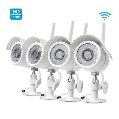 Zmodo 4 pack Wireless Home Security Camera 720 Smart IP HD IR Cut WiFi Cameras