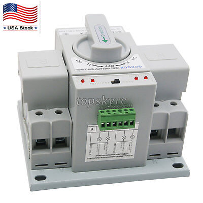 Dual Power Automatic Transfer Switch 2p 63a 110v Toggle Switch With Shell Us