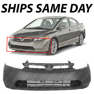 NEW Primered  Front Bumper Cover Fascia for 2006 2007 2008 Honda Civic 18 Sedan