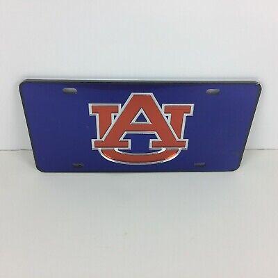 - Auburn Tigers Logo Mirror Acrylic Car Tag License Plate - Color Navy