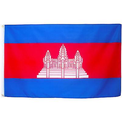 Fahne Kambodscha 90 x 150 cm Flagge Kambodscha Nationalflagge