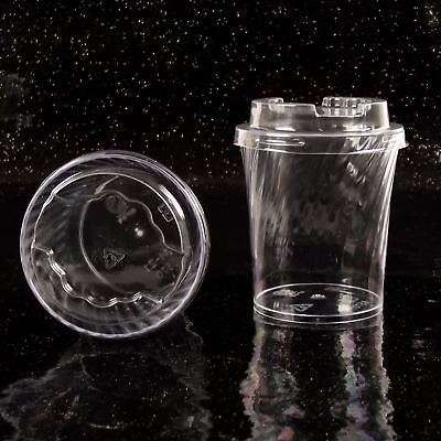 Dessert-cups (Round Tapered 7cm Disposable Dessert Cups (G) Canape Dishes Clear Plastic)